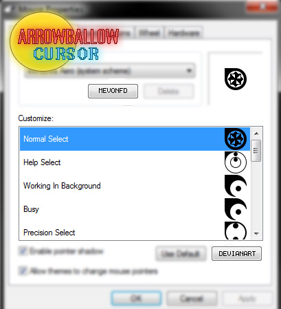 Arrowball set for mouse cursors