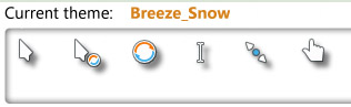 Breeze Snow mouse cursors