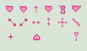 Red Hearts mouse cursors