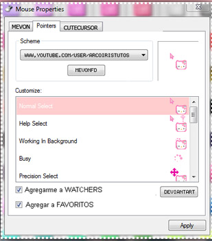 Hello kitty 2018 mouse cursors