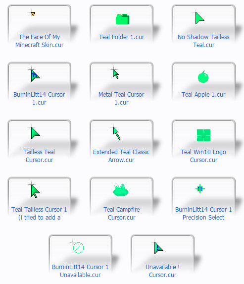 Green Mouse Cursors