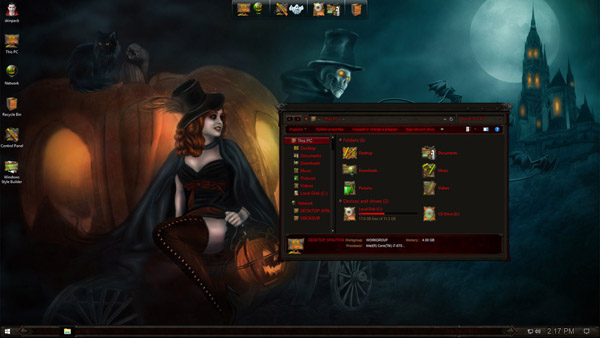 Happy Halloween 2018 for win7/8/10 themes