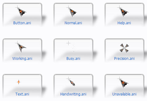 3D TnT Black Mouse Cursors Download