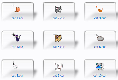 16 Cute cats Cursors
