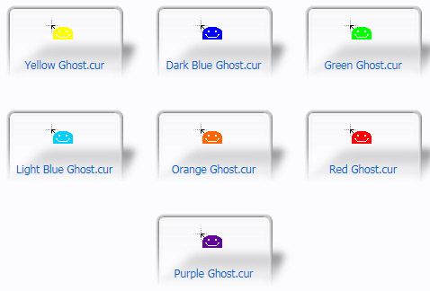 Happy Ghost Mouse Cursors