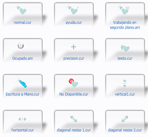 Blue Heart Kawaii Cursors
