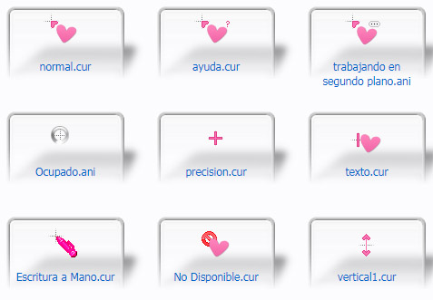Pink Heart Kawaii Mouse Cursors