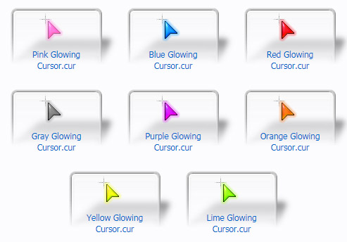 Glowing Mouse Cursors