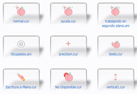 Peach Pink Mouse Cursors