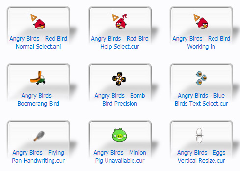 Angry Birds Cursors