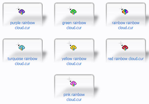 Rainbow Clouds Cursors