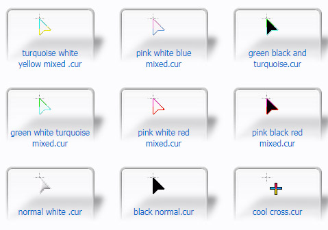 mixed color Cursors