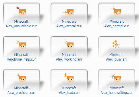 Minecraft Alex Cursors