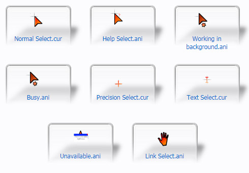 Red & Orange Gradient Cursors