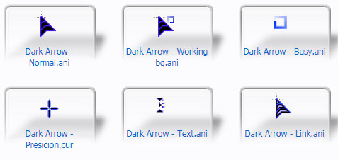 Dark Arrow Cursors