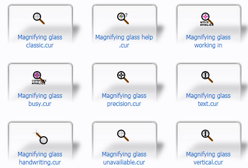 Magnifying glass Cursors